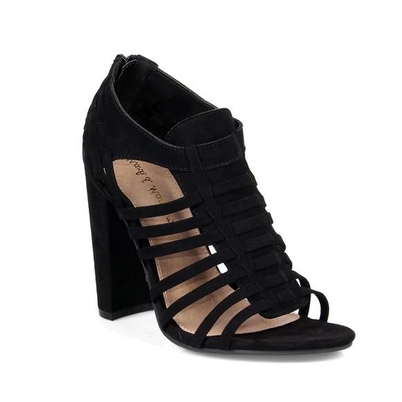 26646374d14 Becca-08 Chunky Heel Women s Caged Sandals